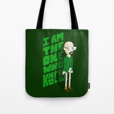 I am the One who Knocks Tote Bag
