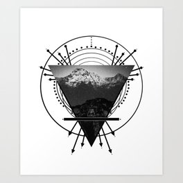 Wiccan Earth Element Symbol Pagan Witchcraft Triangle Art Print