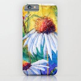 Cone Flowers by Maureen Donovan iPhone Case