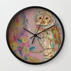 Jeweled Owl Wall Clock