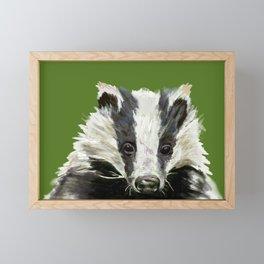 Animals endangered by HS2 (#stophs2) Framed Mini Art Print
