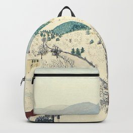 Anna Mary Robertson 'Grandma' Moses To Grandma's House We Go on Thanksgiving Day Folk Art Backpack