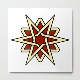 Arabesque star 2 Metal Print