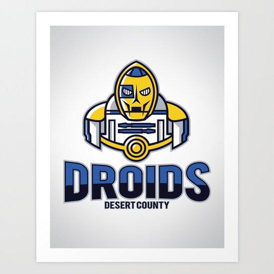 Desert County Droids Art Print