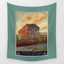 Paestum ancient Greek temple Wall Tapestry
