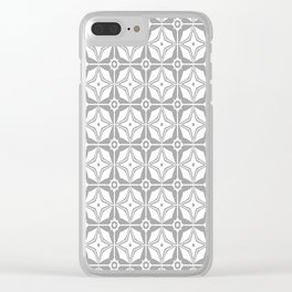 Grey Stars Clear iPhone Case