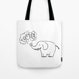 White Elephant Vote Drawing Tote Bag