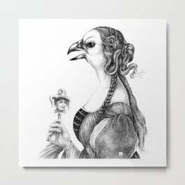 Tête-à-tête with Botticelli Metal Print