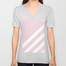 Simple Lines, Pink Unisex V-Neck