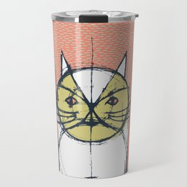 Cubist Cat Study #12 by Friztin Travel Mug