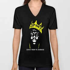Biggie Sicka Than Yo Average Unisex V-Neck