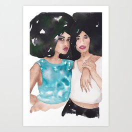 Twin Queens Art Print