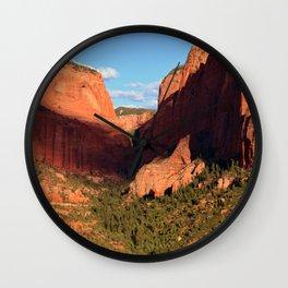 Kolob Canyons Utah Wall Clock