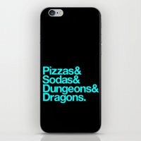 dungeons and dragons iPhone & iPod Skins featuring Dungeons & Dragons & Swag by Tuff Industries