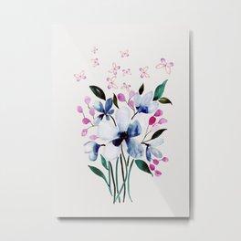 Flowers and butterflies 3 Metal Print