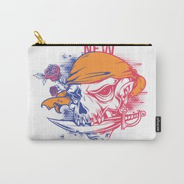 Out with the new in with the old - skull pirate Carry-All Pouch