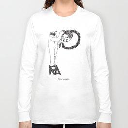 P / disable alphabet Long Sleeve T-shirt