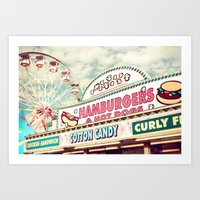 carnival Art Prints featuring Carnival by Sylvia Cook Photography