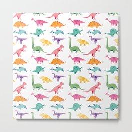 Anna's Dinosaur pattern Metal Print