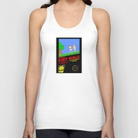 bible Tank Tops featuring 8-bit Bible by Jim Lockey