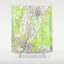 Vintage Lebanon & Hanover New Hampshire Map (1959) Shower Curtain