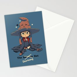 The Shortening Hat // Chibi Wizard, Fantasy, Magic Stationery Cards