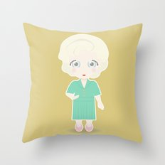 Girls in their Golden Years - Rose Throw Pillow