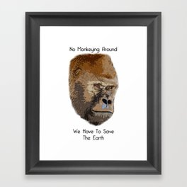 Save The Earth Save Gorillas Framed Art Print