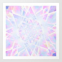 Crystal Diamond Shine Art Print