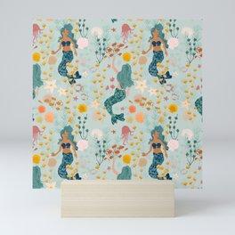 Aqua Mermaids Mini Art Print