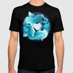 underwater guardians - fishes MEDIUM Mens Fitted Tee Black