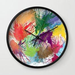 Ink Splats Wall Clock
