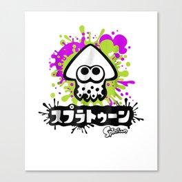 Nintendo Splatoon Inkling Text Splatter Graphic T-Shirt Canvas Print