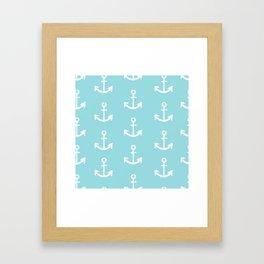Anchor - mint blue Framed Art Print