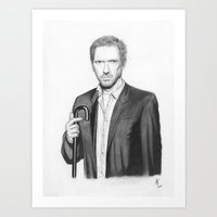 house md Art Prints featuring House MD by Adam Tupper