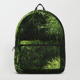 Green Bamboo Grove Tropical Plants Backpack