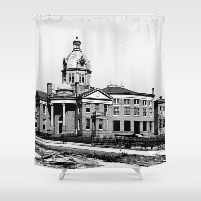 Gulfport, Mississippi Courthouse Shower Curtain