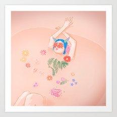 Flower Bath Art Print