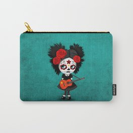 Day of the Dead Girl Playing Chinese Flag Guitar Carry-All Pouch