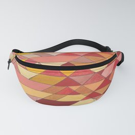 Triangle Pattern no.4 Warm Colors Red and Yellow Fanny Pack