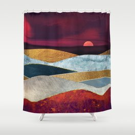 Crimson Sky Shower Curtain