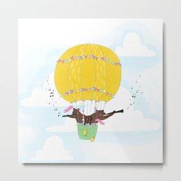 Musical bear flight Metal Print