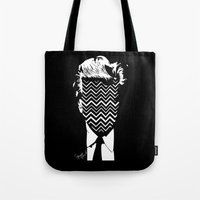lynch Tote Bags featuring Lynch. by Spazy Art