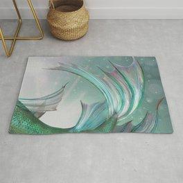 Mermaid Art, Ocean Sea, Purple,Teal, Green Rug