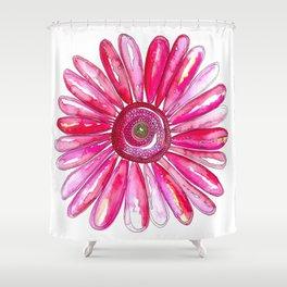 Pink Gerber Daisy Shower Curtain