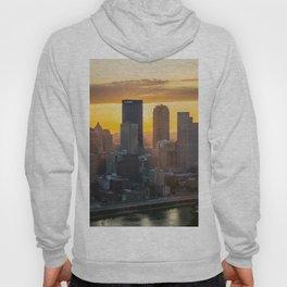 Pittsburgh Sunrise Skyline Tall Print City Hoody