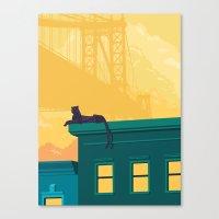 urban Canvas Prints featuring Urban jaguar by Roland Banrevi