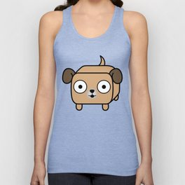 Pitbull Loaf - Fawn Pit Bull with Floppy Ears Unisex Tank Top
