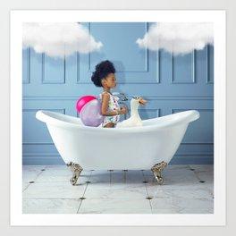 dreamy girl cloud fantasy Kunstdrucke