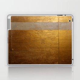 Dariusz Stolarzyn Gold and White Oil Painting Laptop & iPad Skin